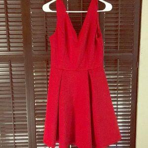 Red date night dress